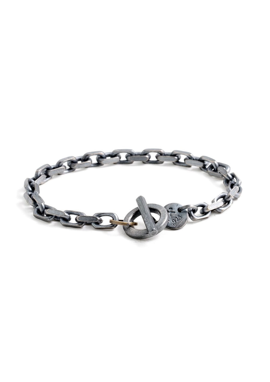 Toggle Chain Bracelet (Sterling Silver)