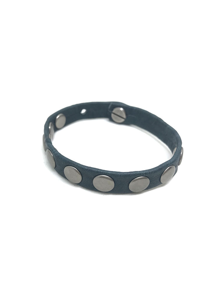Tribe Flat Studded Leather Bracelet