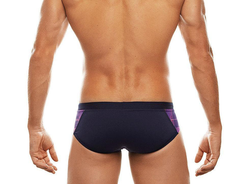 Highland Fling Plaid Insert Swim Brief (Navy)