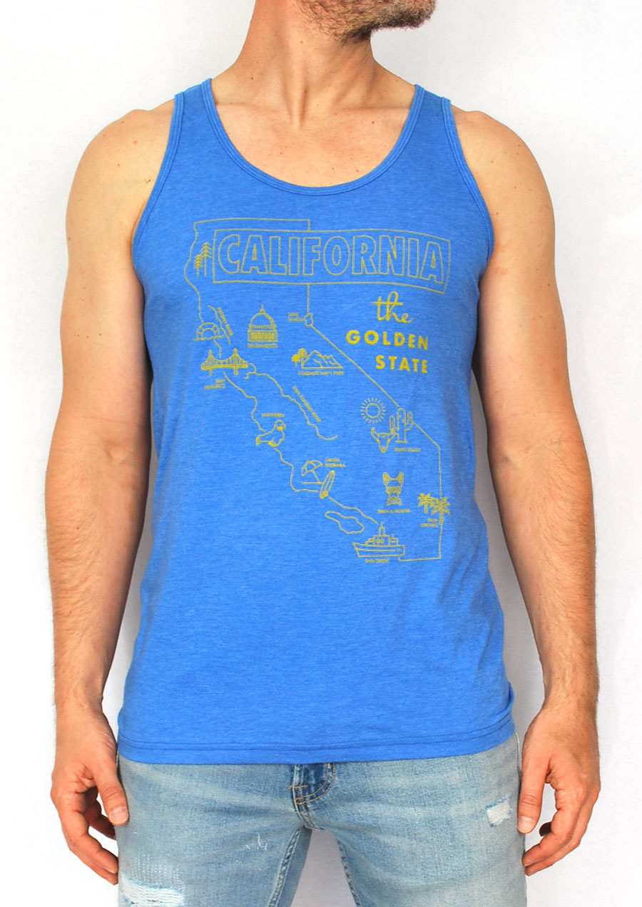 Cali - The Golden State Tank (Blue)