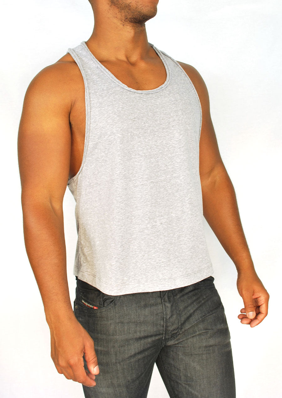 Extreme Racerback Tank w/ Cut-edge Detail (Heather Grey)