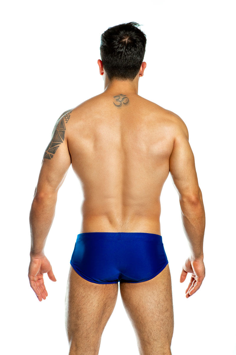 Football Stripes Boxer Cut Swim (Blue)