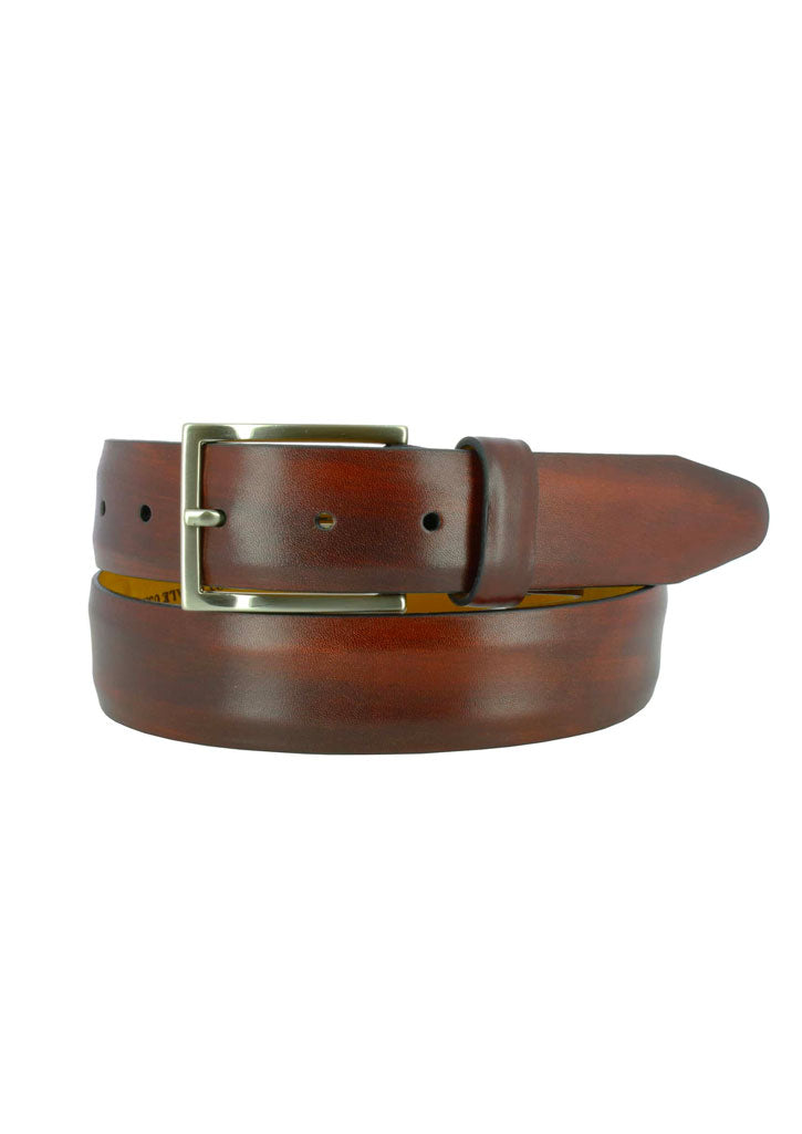 Jackson Leather Belt (Burgundy)