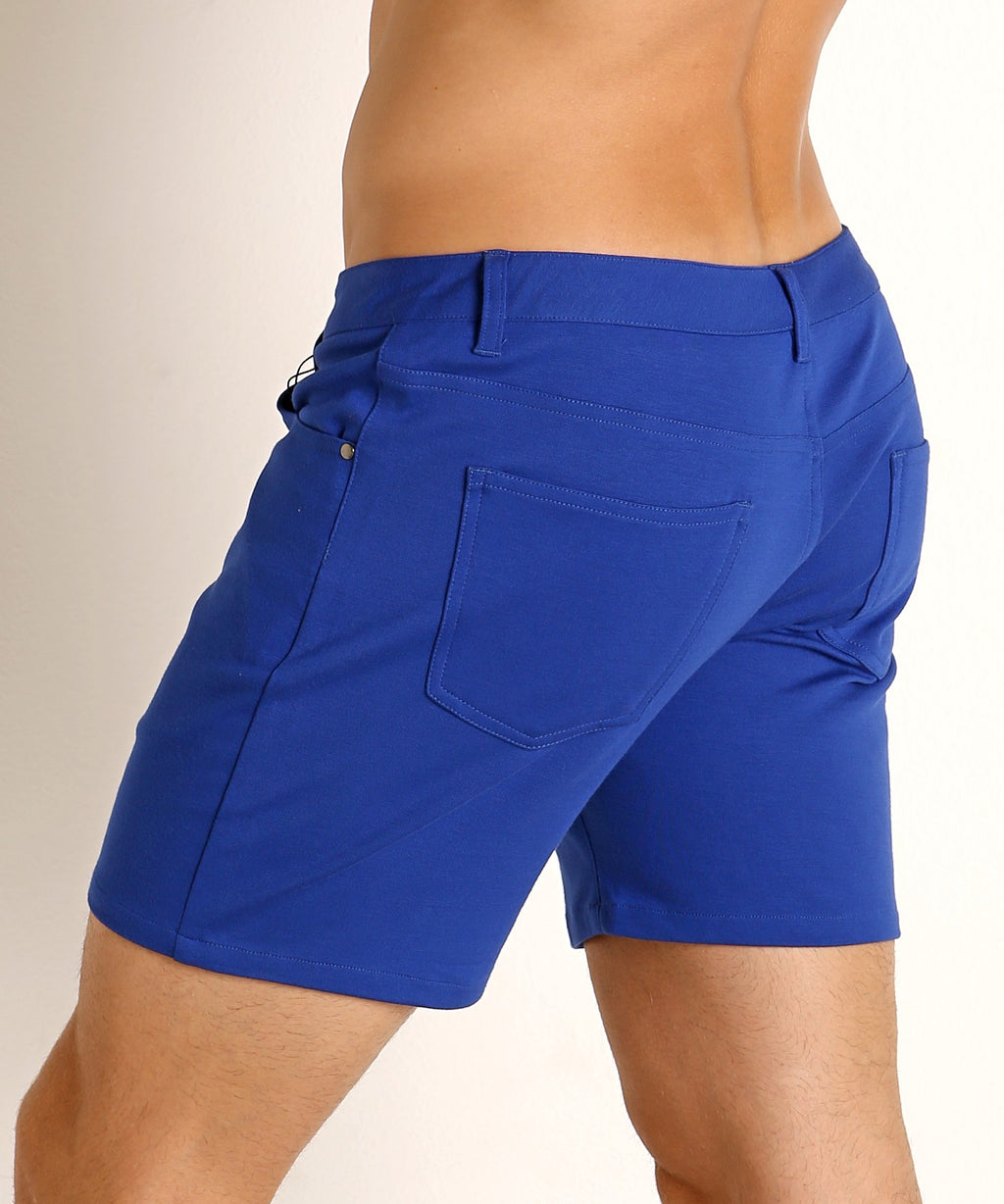 "Stretch Knit Shorts (5"" inseam) (Azure Blue)"