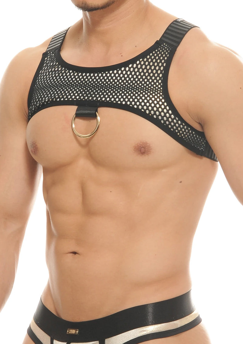 Sheer Floral Crew Neck Tee (Black)