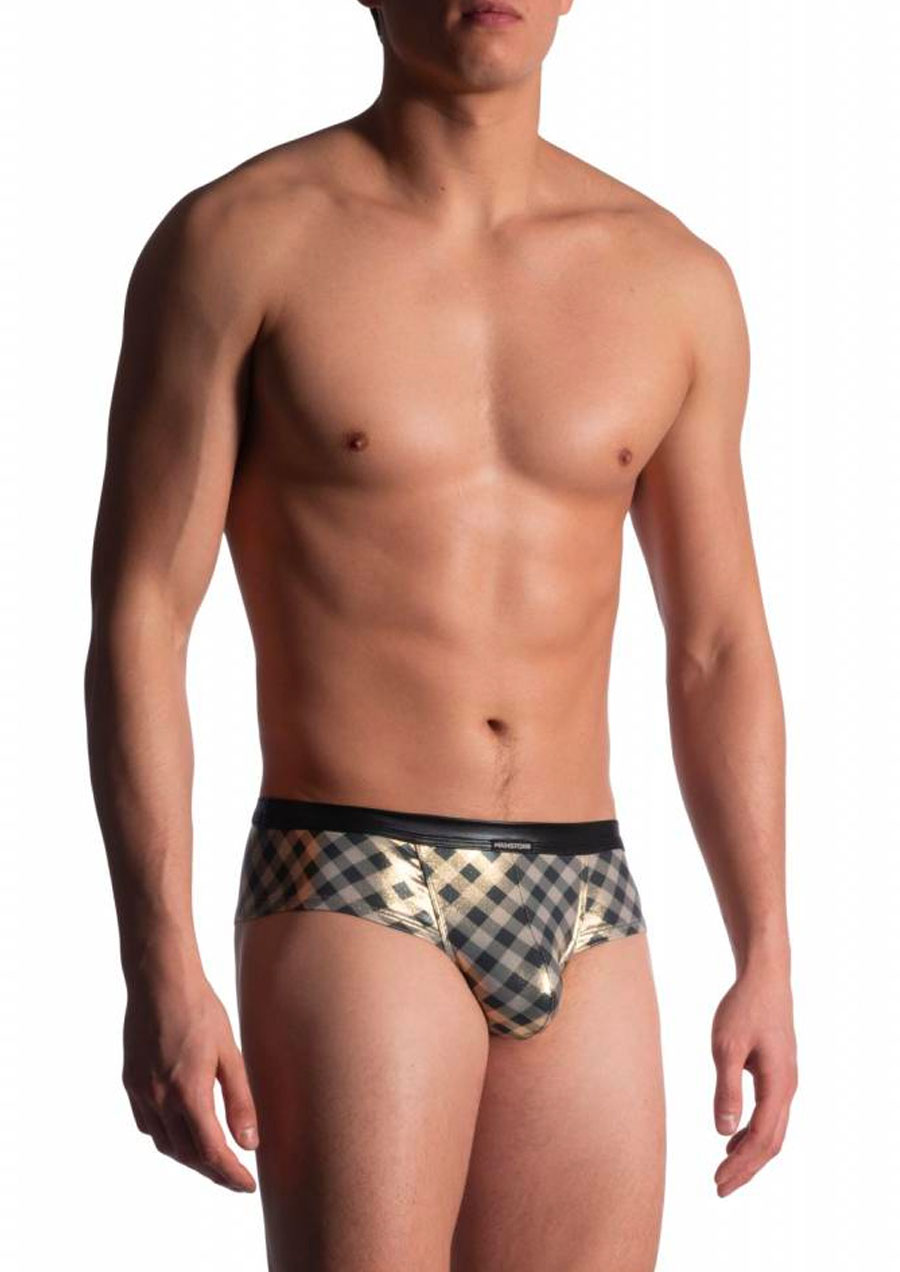 Cheeky Brief Plaid (Gold Black)