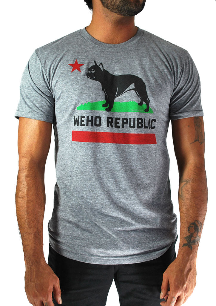 WeHo Republic Tee (Light Grey)