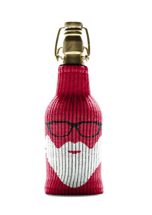 "Freaker ""St Slickolas""Knit Wine Cozy"