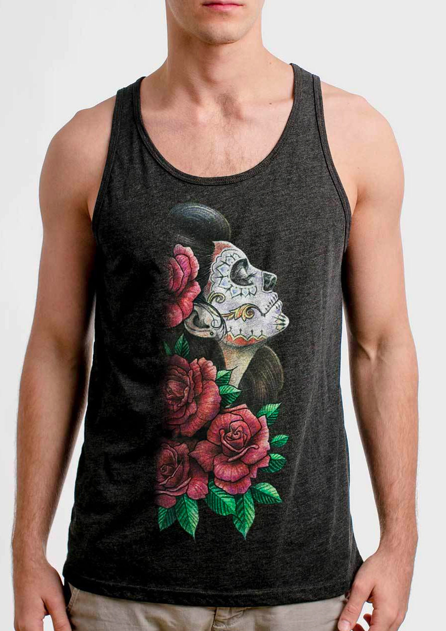 Lady of the Dead Tank (Charcoal Heather)