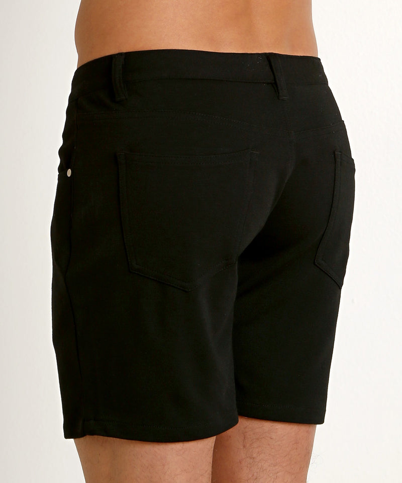 "Stretch Knit Shorts (5"" inseam) (Black)"
