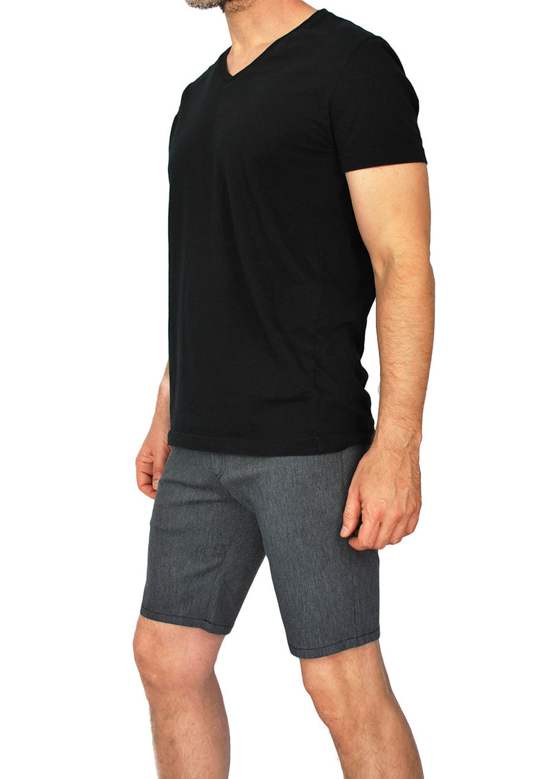 "Slim Fit 5-Pocket Short - 8.5"" Inseam (Heather Charcoal)"
