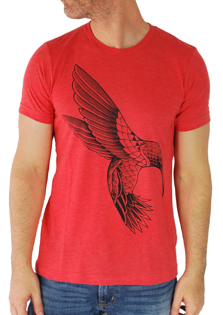 Black Hummingbird Tee (Red)