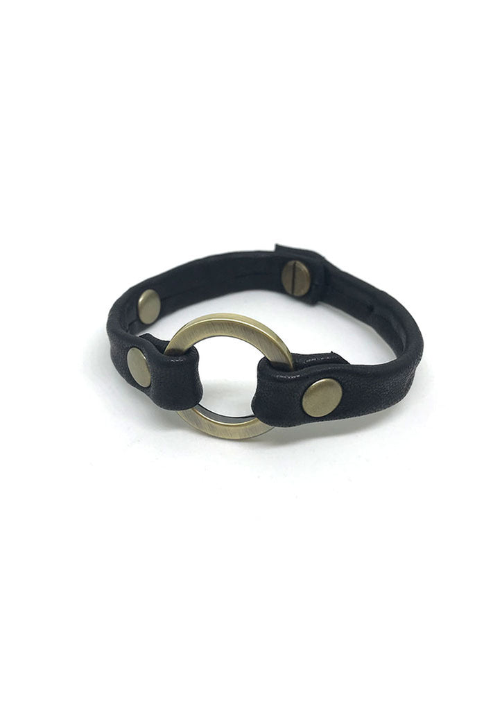 One Love Small Ring Leather Bracelet