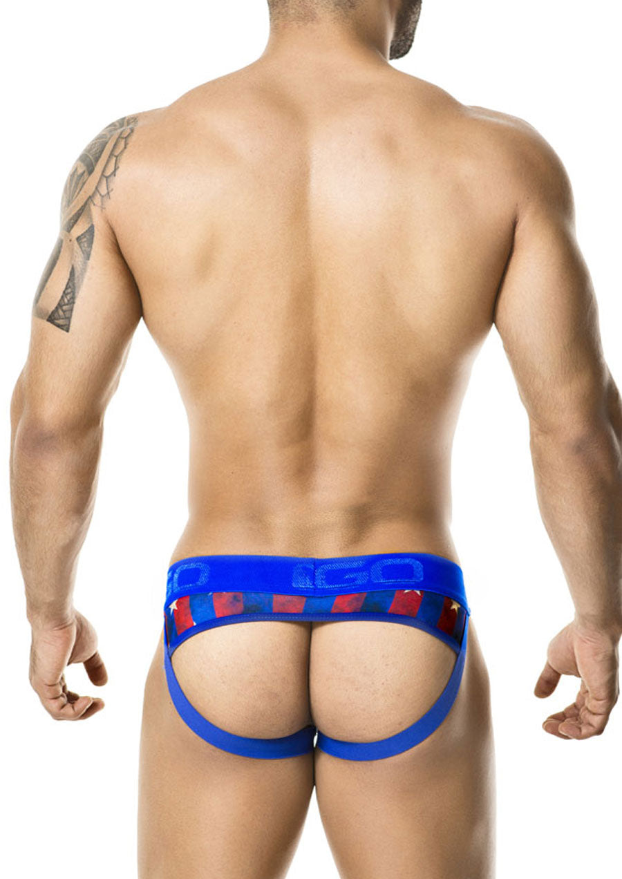 Stars & Stripes Jockstrap (Blue)