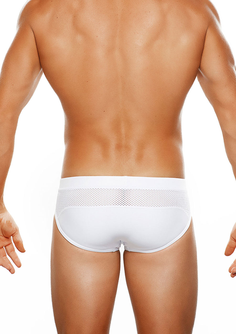 Montenegro LoRise Swim Brief (White)
