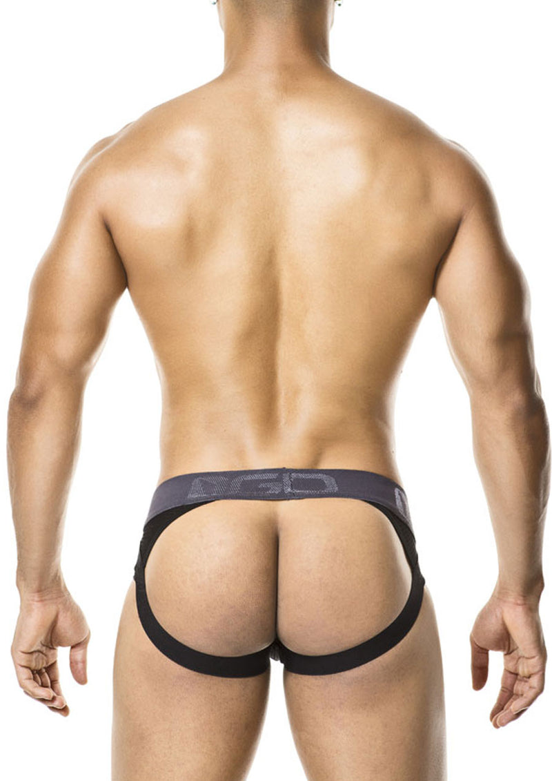 Combi Brief Jockstrap (Black)