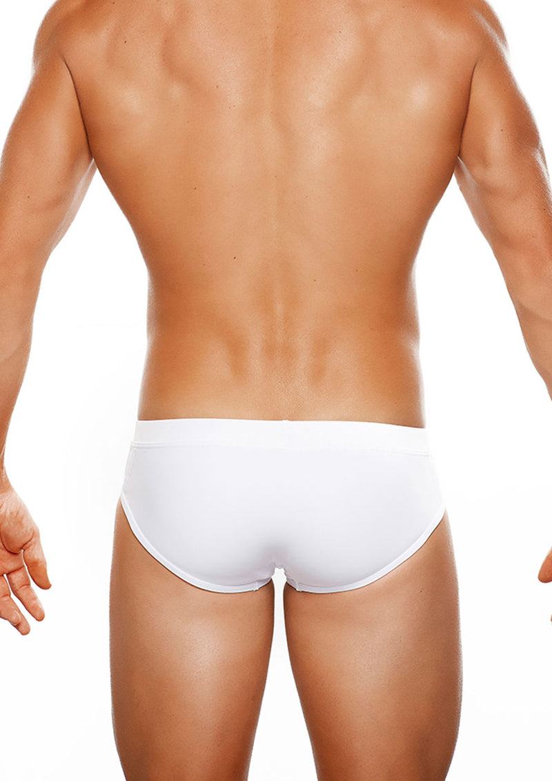 Santorini LoRise Swim Brief (White)