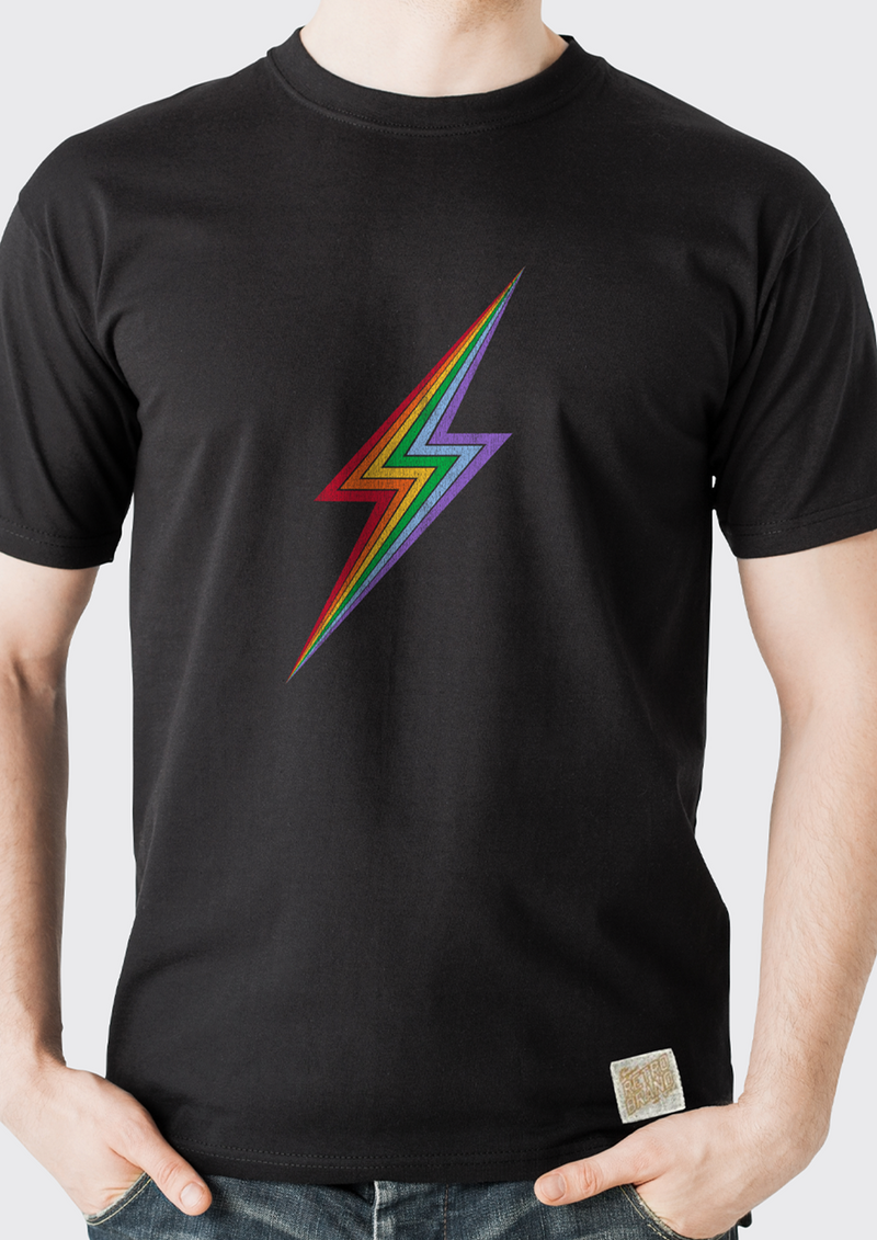 Rainbow Bolt Tee (Black)