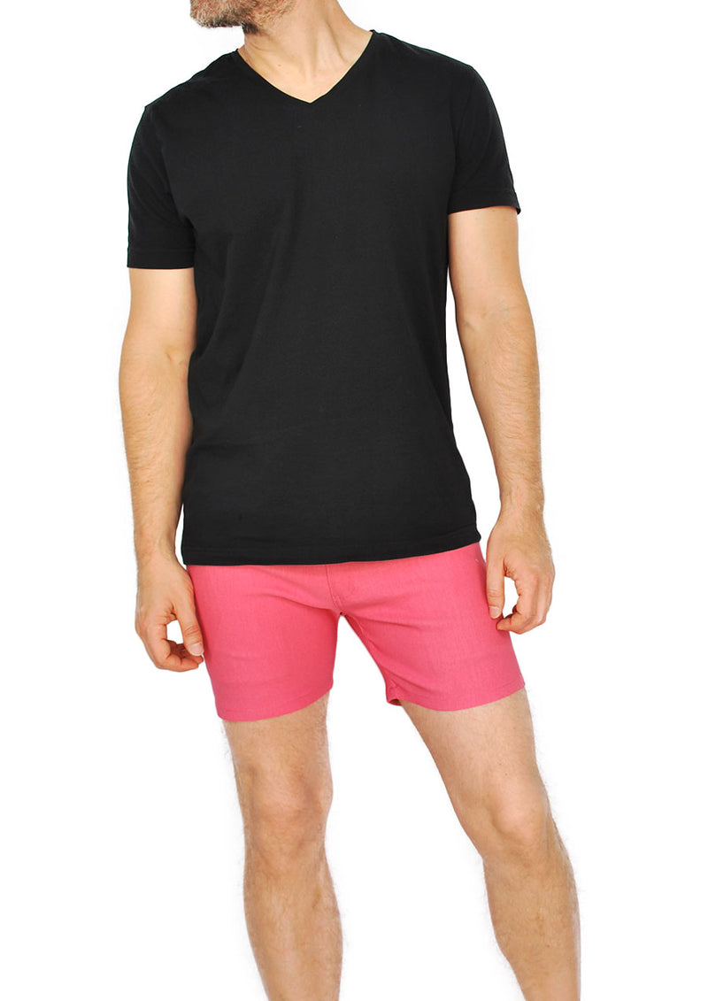 "5-Pocket Stretch Twill Short Shorts - 5"" Inseam (Nantucket Red)"