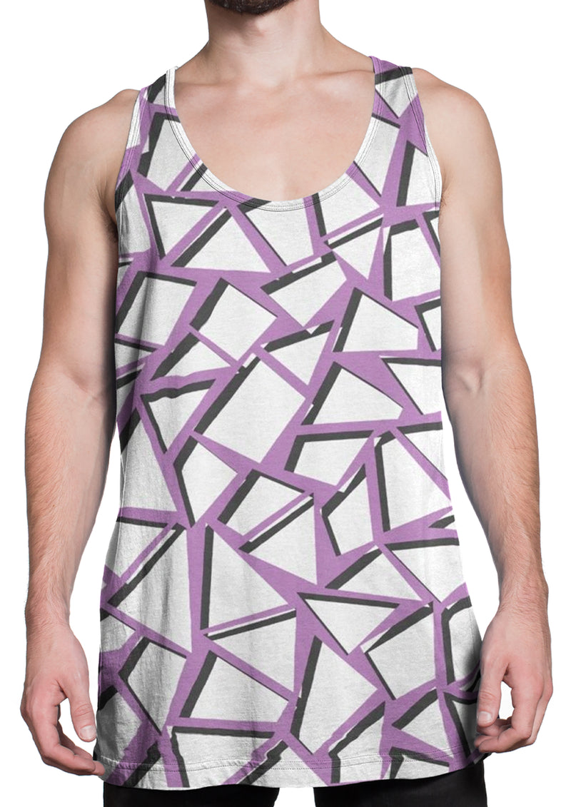 Heavy Metal Purple Triangle Sublimated Tank