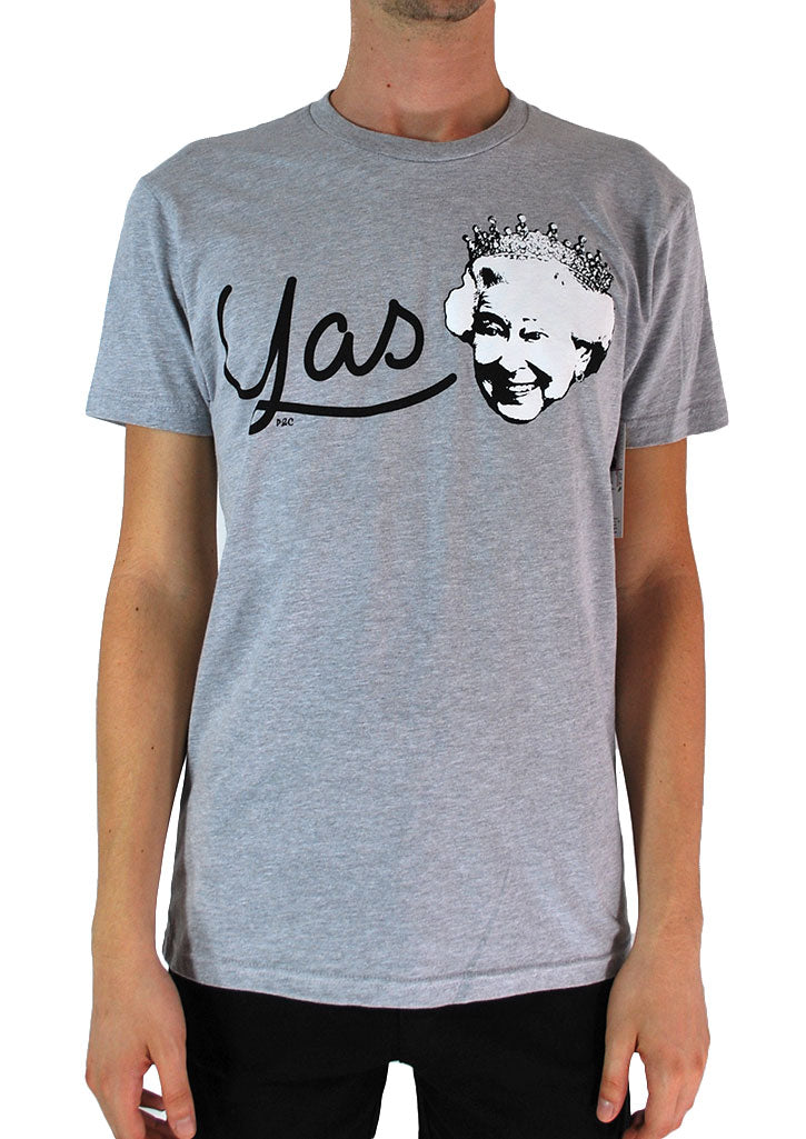 Yas Queen Tee (Heather Grey)