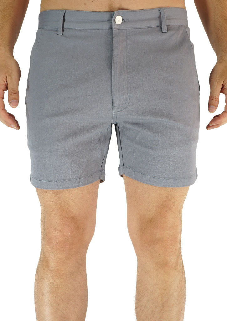 "Trouser Cut Shorts 4"" Inseam (Grey)"