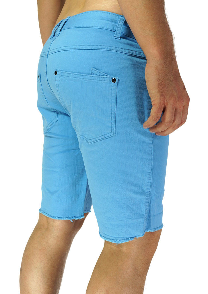 Slim Leg Cut-Off Short (Sea Blue)