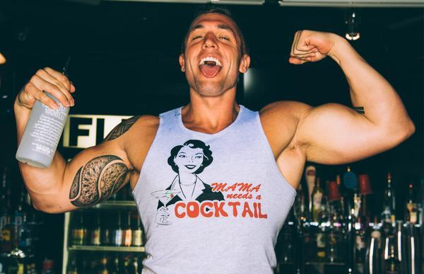 Mama Needs a Cocktail Tank (Grey)