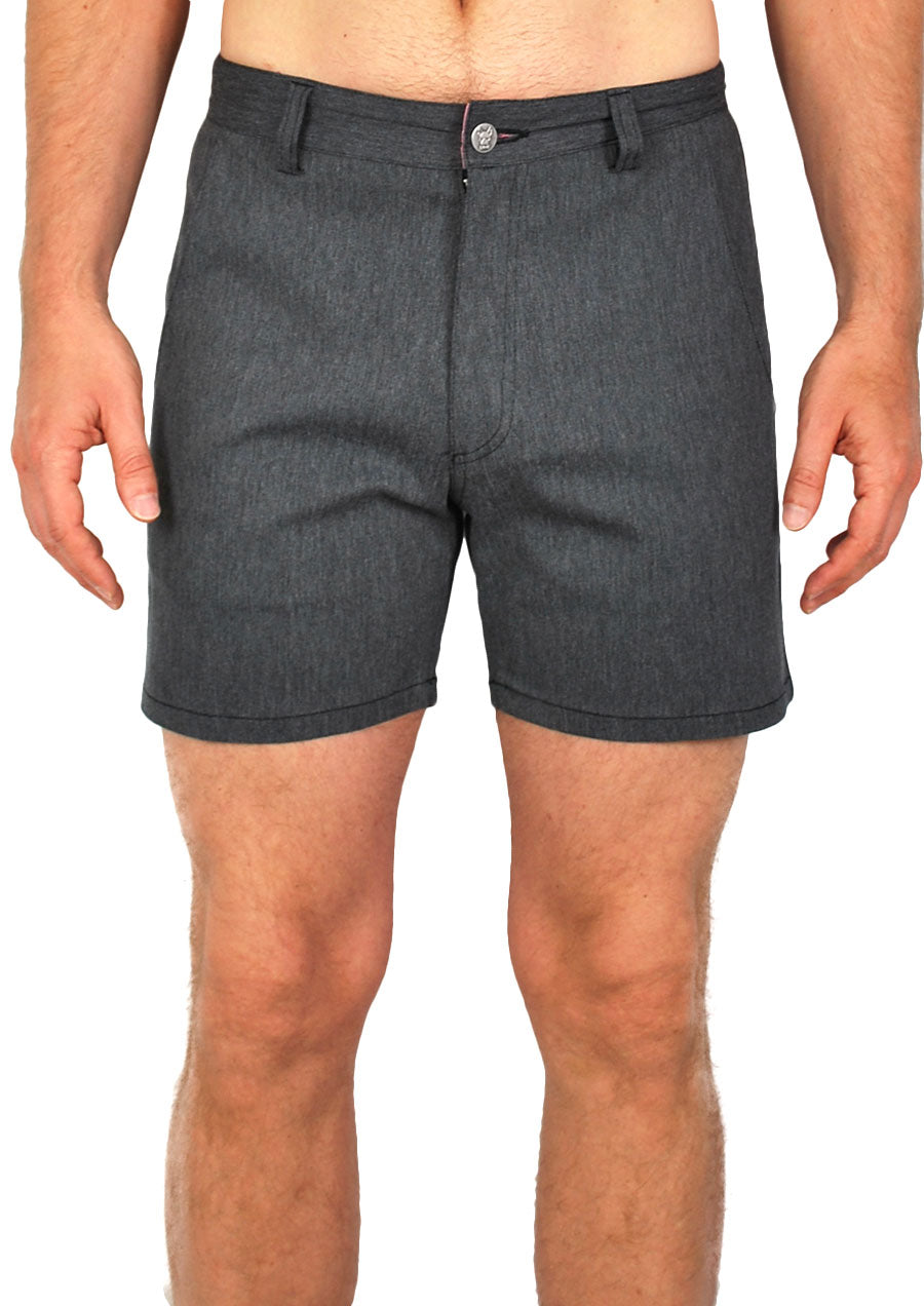 "Trouser Cut Shorts 4"" Inseam (Millennium Grey Twill)"