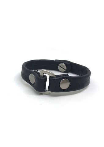 Do Good D-Ring Leather Bracelet