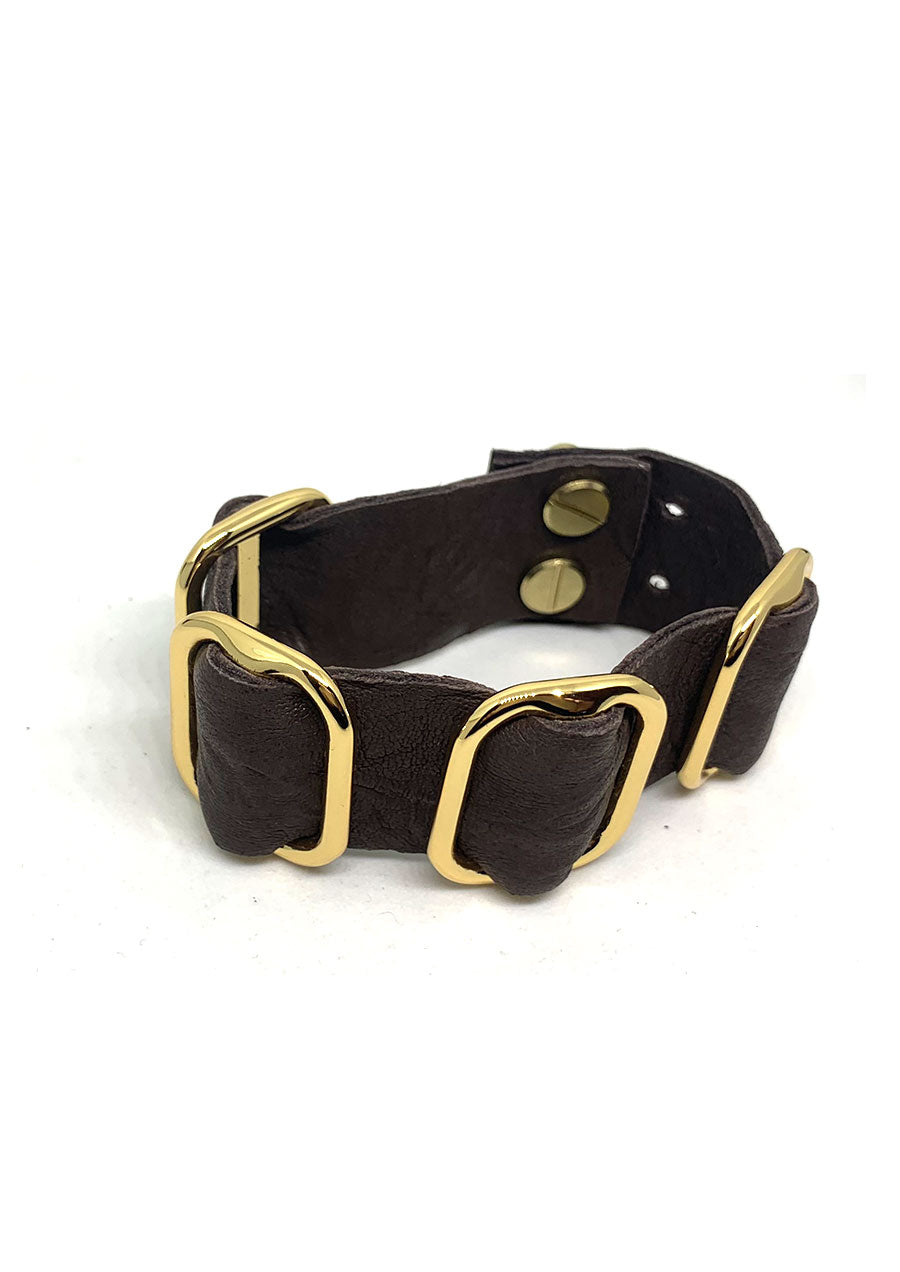 Fancy Leather Buckle Cuff