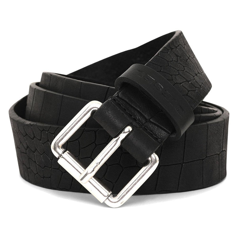 Croco Leather Belt (Black)
