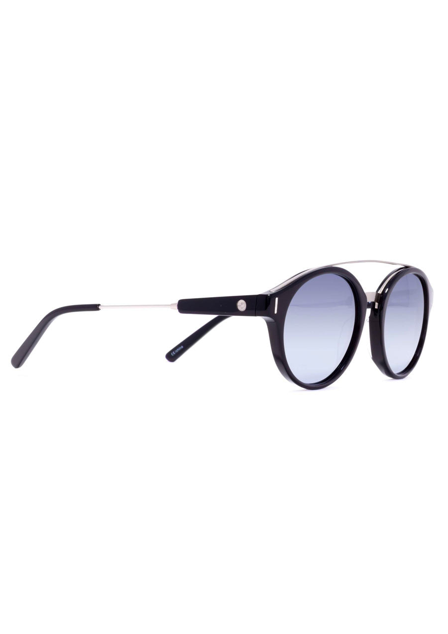 Wilder Eco Sunglasses (Black/Silver Mirror Lens) #101