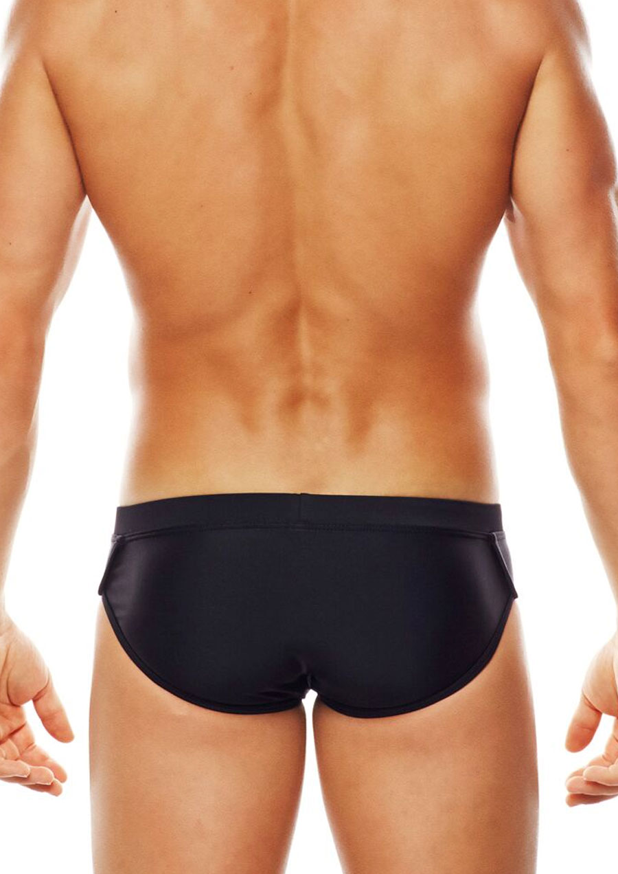 Monaco Lo Rise Swim Brief (Black/Gold)