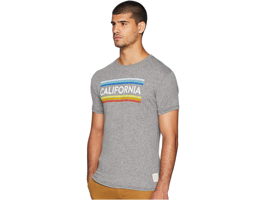 California Vintage Stripe Tee (Heather Grey)