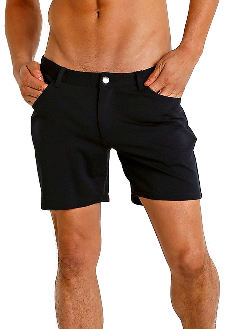 "Stretch Knit Shorts (5"" inseam) (Navy)"