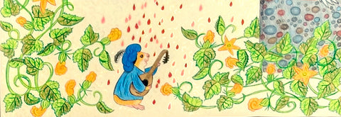 Guinea pig Bill plays the lute