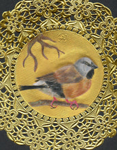Load image into Gallery viewer, Black Throated Finch Doily