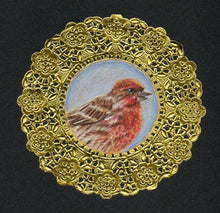 Load image into Gallery viewer, House Finch Doily