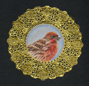House Finch Doily