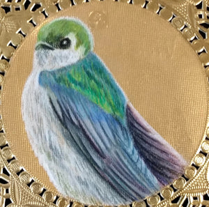 Violet Green Swallow Pendant