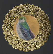 Load image into Gallery viewer, Violet Green Swallow Doily Drawing