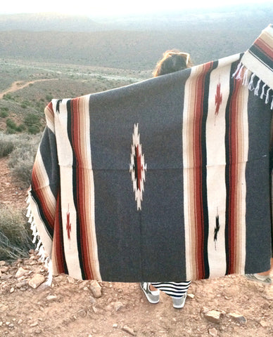WILD WEST BLANKET- grey