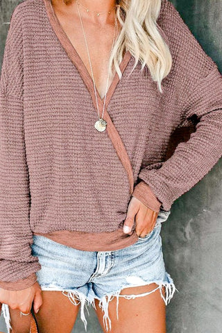 CROSSROADS TOP- mauve