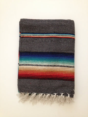 FREEBIRD FIESTA BLANKET- gray