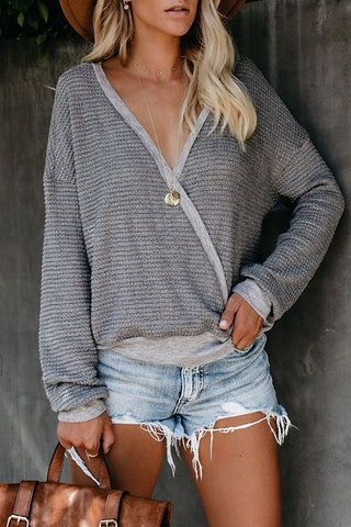 CROSSROADS TOP- grey