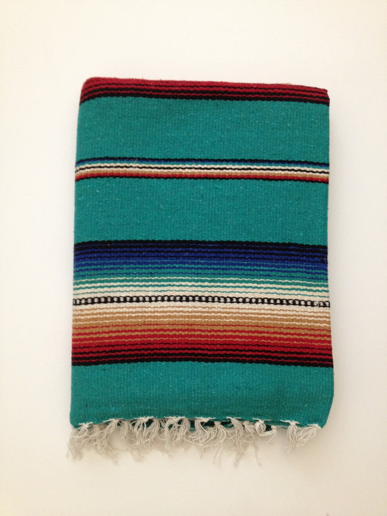 FREEBIRD FIESTA BLANKET- teal