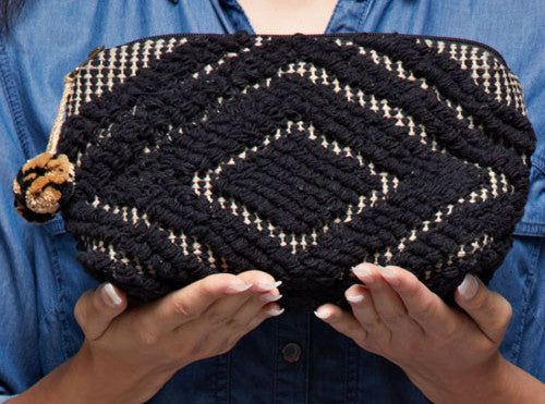 DREAM WEAVER CLUTCH/COSMETIC BAG- black