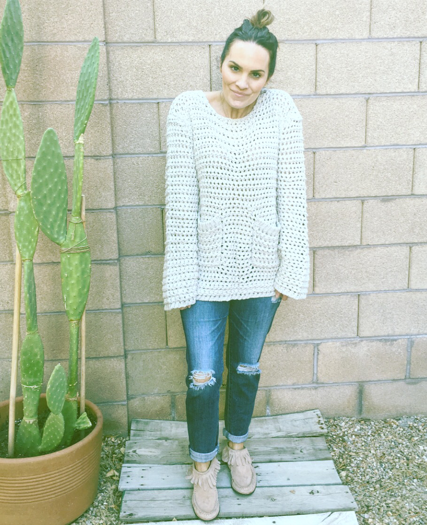 COZY MORNINGS CHUNKY KNIT SWEATER