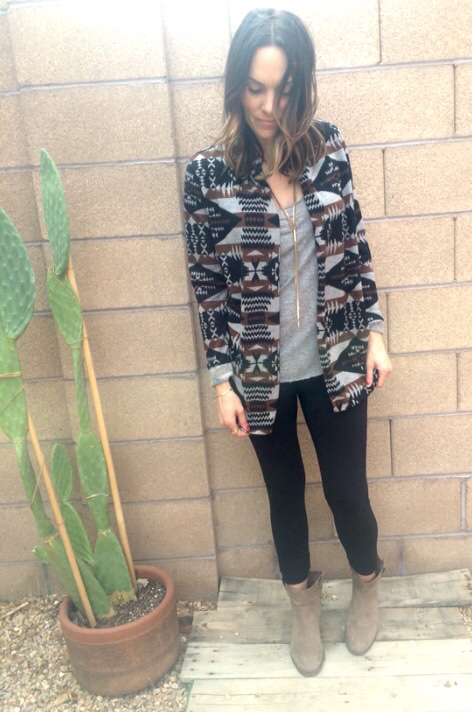 WILD WEST cardigan- gray